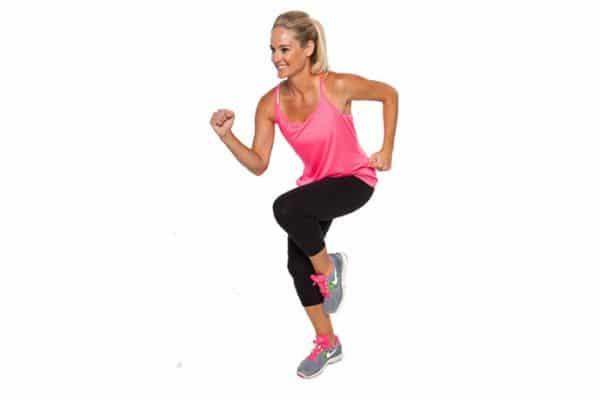bohy shape kobieta w biegu klub fitness