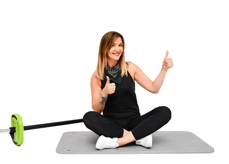 instruktor fitness, kobieta, jump, Pabianice strefa ruchu
